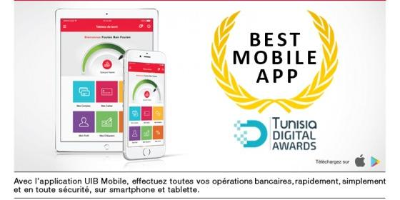 L'application UIB MOBILE élue BEST MOBILE APP